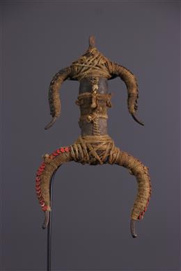 Poupée fétiche Namji / Matakam en bronze