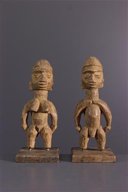 Couple de statuettes Ewe Venavi
