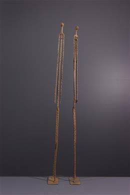 Figures de couple Dogon en bronze