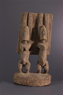 Figures de couple aux bras levés Dogon