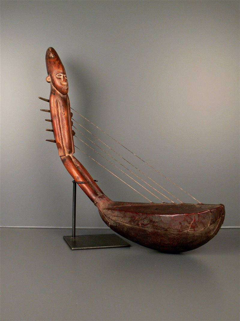 Harpe mangbetu 3290 musique art africain - Objet cylindrique 94 ...