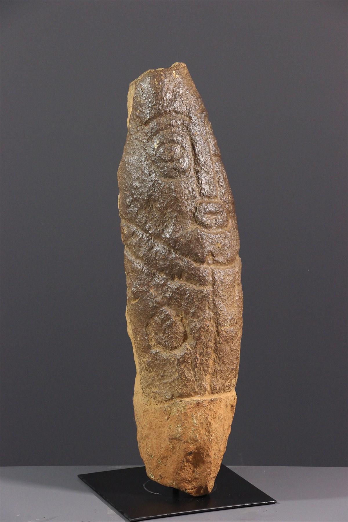 Art africain - Monolithe Cross River Ekoi Akwanshi