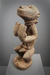 Art africain - Statues - Singe mendiant Gbekre Baoulé