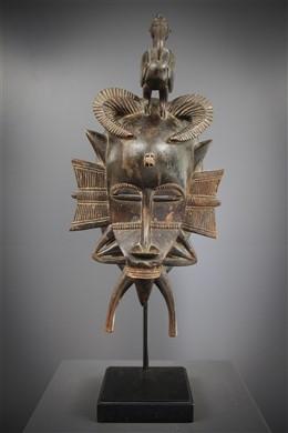 Art africain - Masque féminin Kpelyé