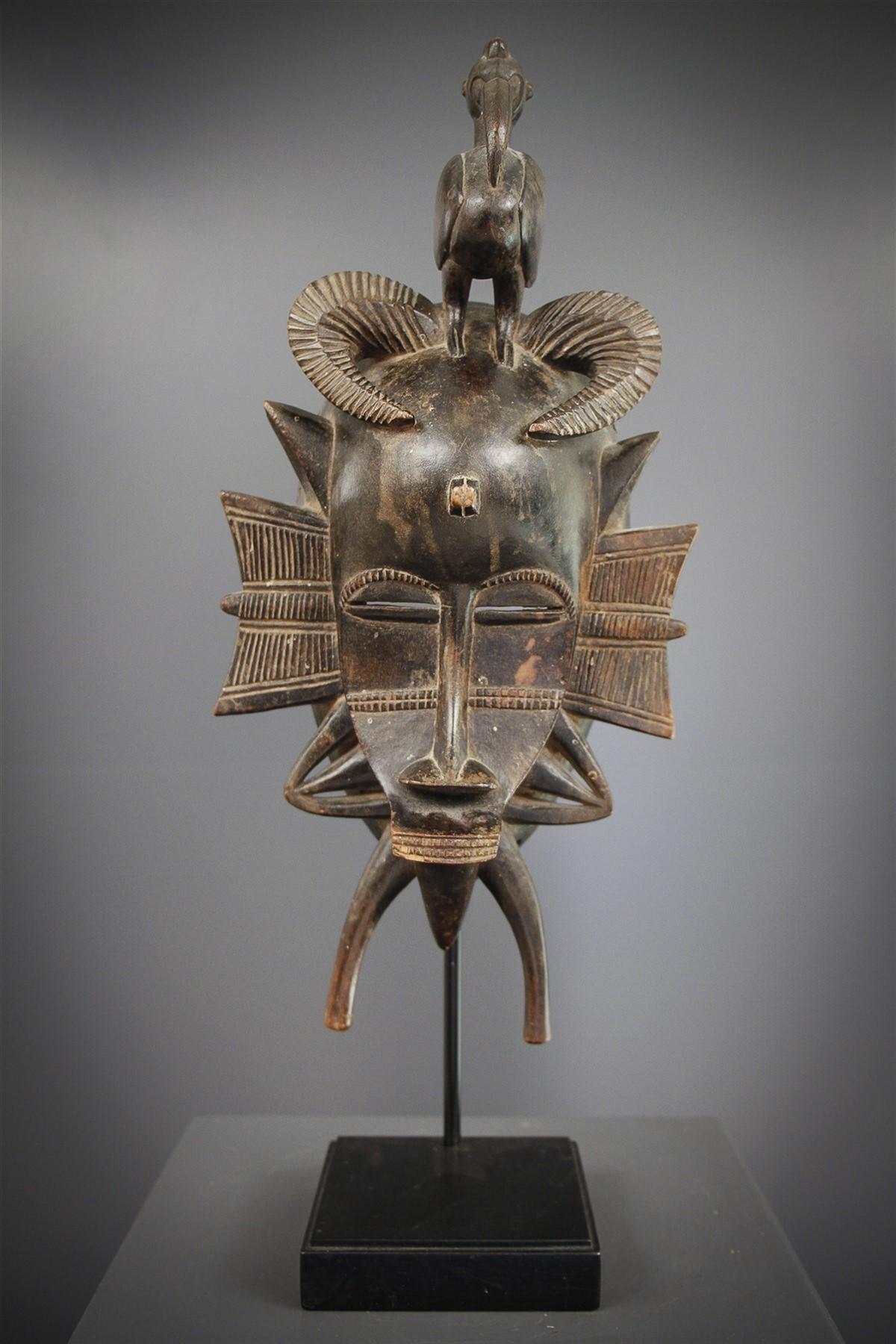 Masque féminin Kpelyé - Art africain