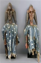 Couple de marionnettes éducatives Bambara