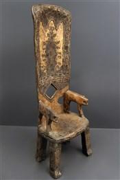 Art africain - Chaise - Chaise de dignitaire Baoulé