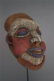 Masque perlé Bamoun