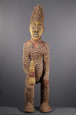 Statue perlée Bangwa