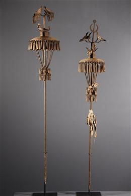 Art africain - Couple dautels des ancêtres Asen Fon