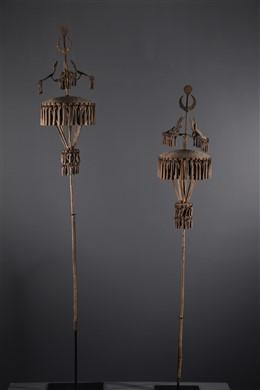 Art africain - Paire dautels des ancêtres Asen Fon