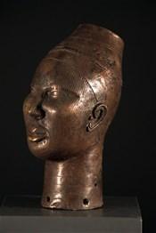 Art africain - Bronze Ife - Tête Oni Ifé