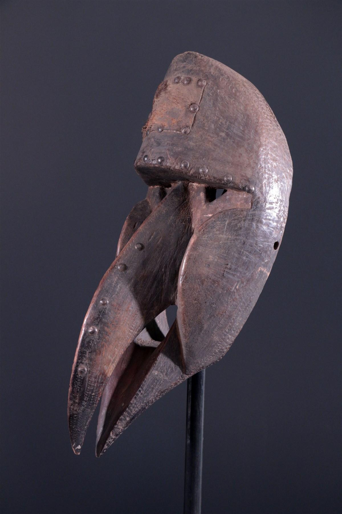 masque africain bec d'oiseau