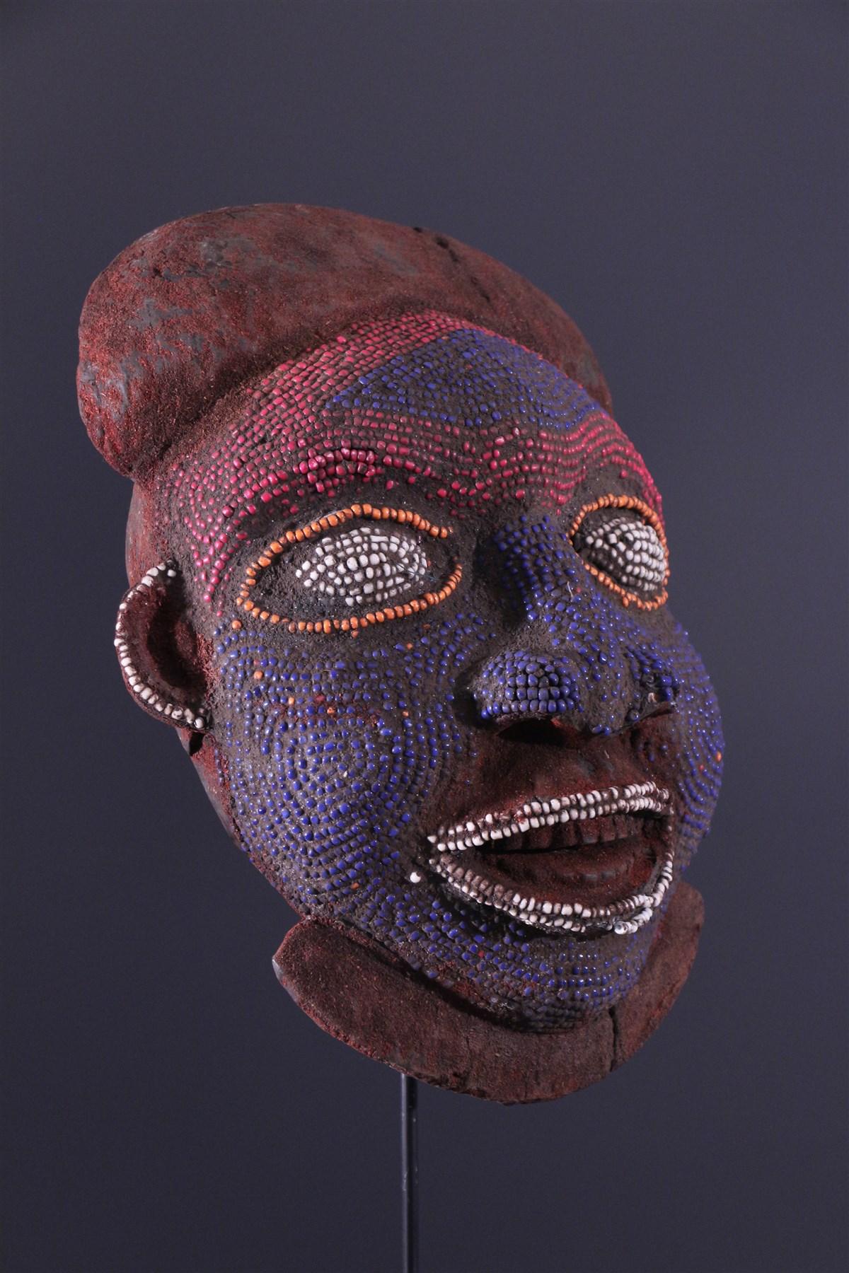 masque africain perle
