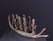 Art africain - Bronze - Grande pirogue en bronze Dogon