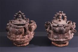 Paire de poteries Fon