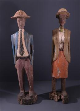 Couple de grands colons Baoulé