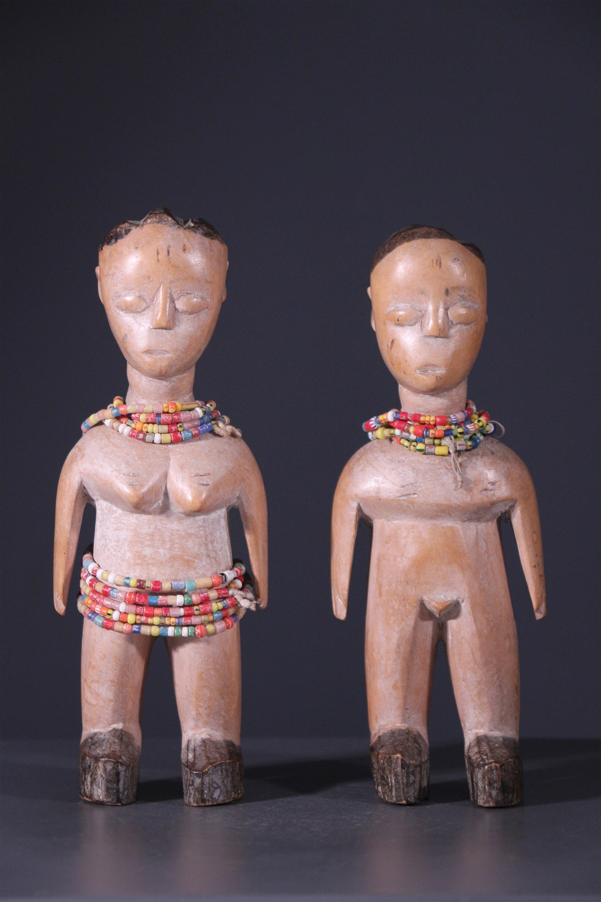 Couple de jumeaux Ewe Venavi - Art africain