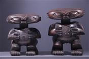 Art africain - Statues - Couple de statues protectrices Pygmée