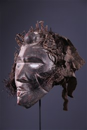 Masque de sorcier Kongo Vili