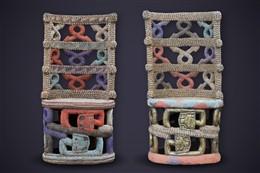 Paire de trônes perlés Bamiléké