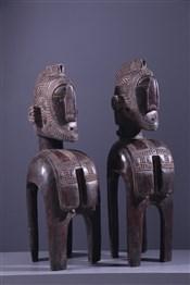 Couple de masques Baga Demba Nimba