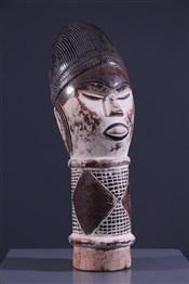 Art africain - Tête - Tête massue Kyebe-Kyebe Kouyou