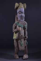 Art africain - Statues - Grande statue perlée Bamileke