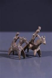 Art africain - Statuettes - Paire de cavaliers Sao Sakoto