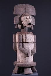 Art africain - Pots - Boite à divination Fang janus