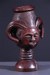 Art africain - Pots - Coupe anthropomorphe Kuba