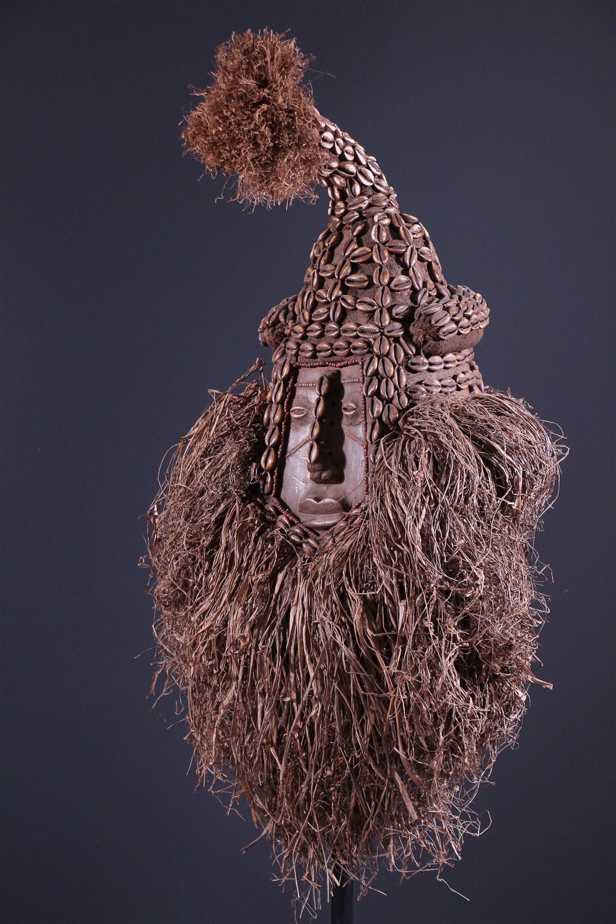 Masque royal Kuba Mwash a mboy - Art africain
