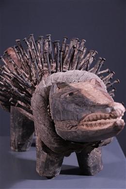 Chien fétiche Kongo Nkisi - Art africain