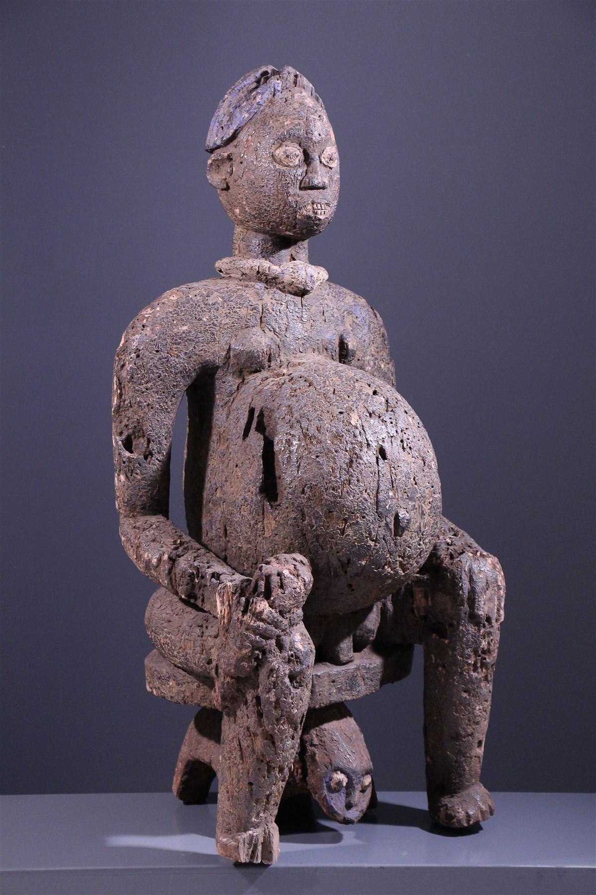 Statue Bangwa - art africain