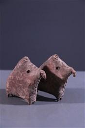 Art africain - Statuettes - Paire de Cavaliers Sao