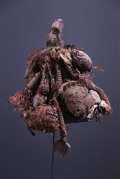 Art africain - Coiffes Chapeaux - Chapeau de sorcier Fon