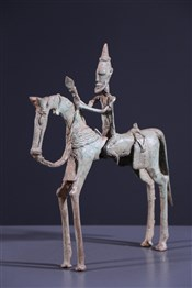 Art africain - Bronze - Cavalier Dogon
