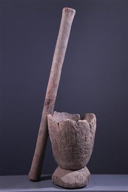 Mortier et pilon à mil Dogon