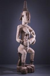Statues africainesPaire de grandes statues Urhobo Owedjebo