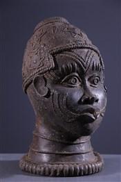 Art africain - Bronze - Tête Bénin Bini Edo