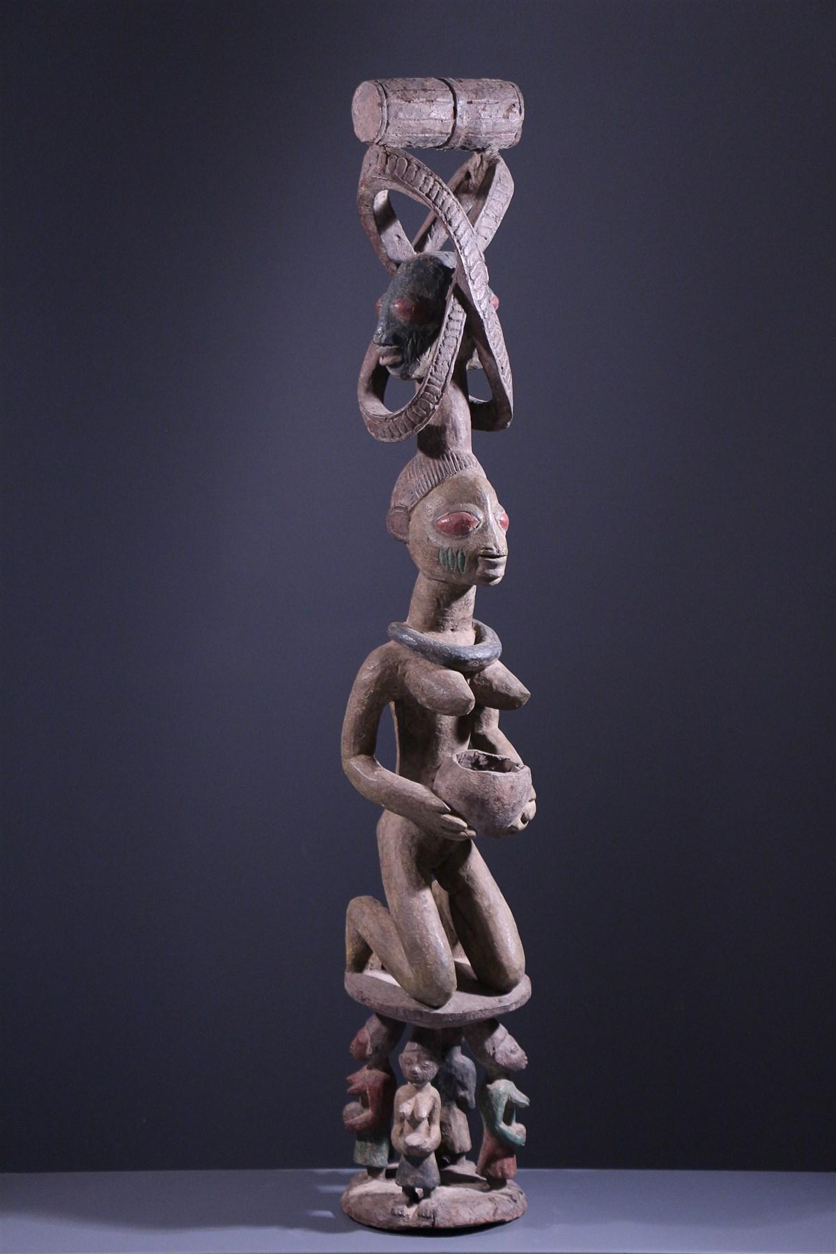 Porteuse de coupe Yoruba - art primitif