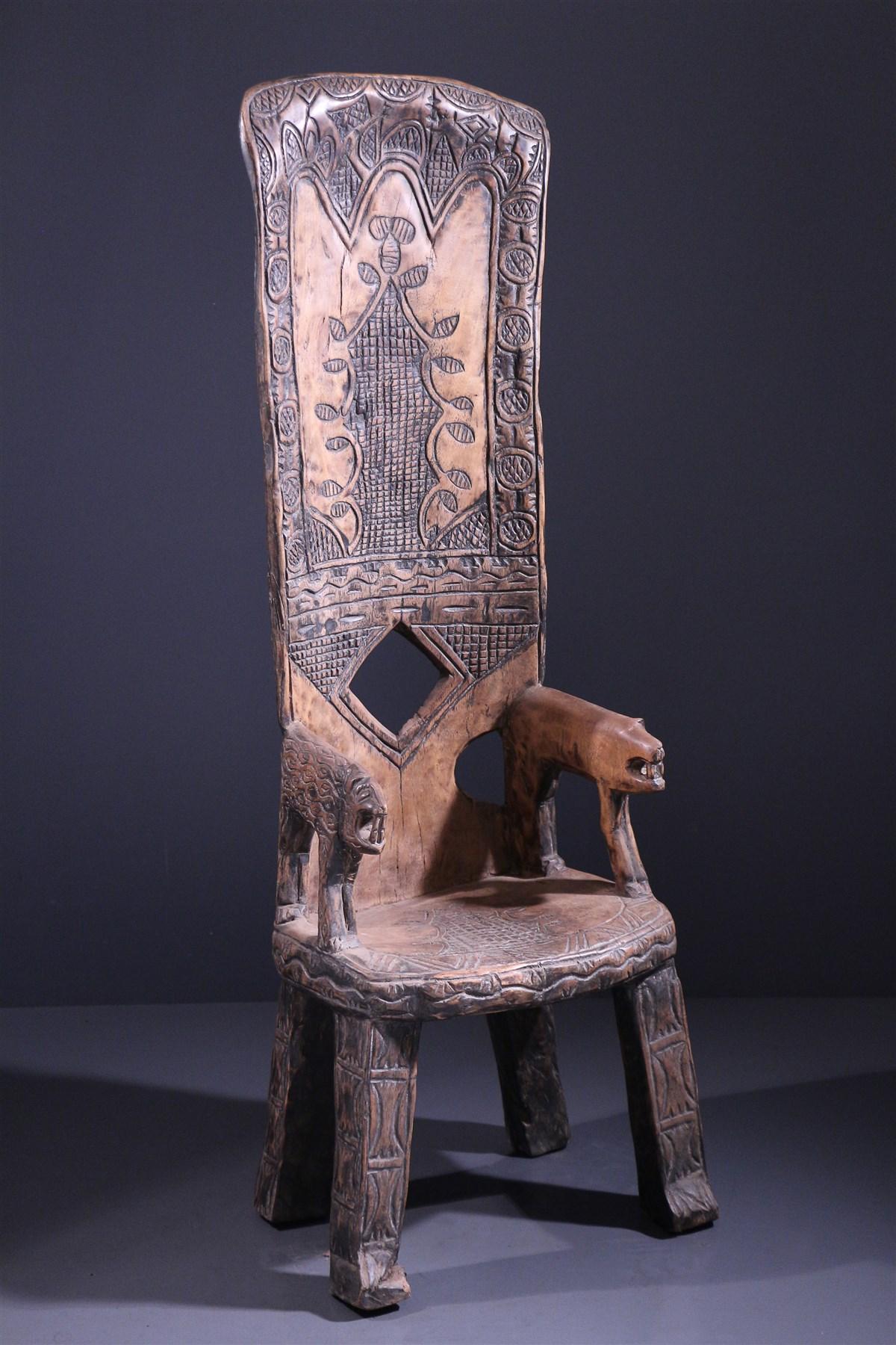 Chaise de dignitaire Baoulé - art africain