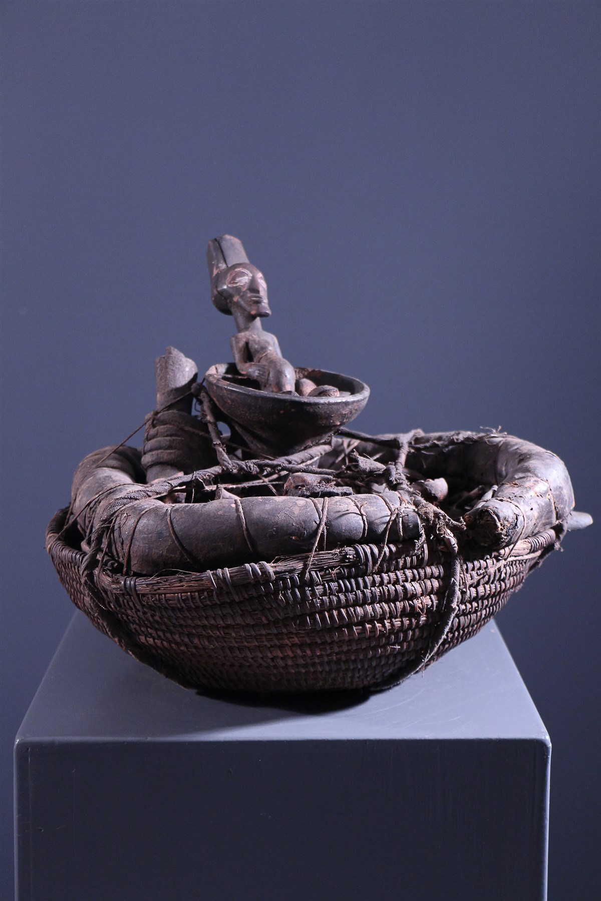 Panier reliquaire Songye - Art africain